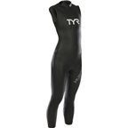 TYR Women's Hurricane Cat 1 Sleeveless Wetsuit: Black/White