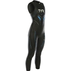 TYR Women's Hurricane Cat 5 Sleeveless Wetsuit: Black/Red