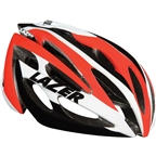 Lazer O2 Helmet: Red and White one size