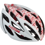 Lazer O2 Test Ride Helmet: White with Red Lettering LG
