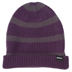 Surly Merino Wool Beanie Gray/Purple Stripe One Size