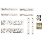 Surly Long Haul Trucker Deluxe Decal Set with Headbadge White