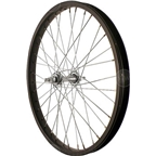 Sta Tru Front Wheel~ 20 inch Black Steel Rim with Solid Thread on Axle and 36 Spokes