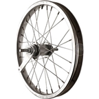 Sta Tru Rear Wheel~ 16 inch Silver Coaster Brake Steel Rim with Solid Thread on Axle