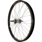 Sta Tru Rear Wheel~ 20 inch Black Coaster Brake Steel Rim with Solid Thread on Axle