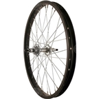 Sta Tru Rear Wheel~ 20 inch Black Single Speed BMX Hub Steel Rim with Solid Axle