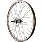 Sta Tru Rear Wheel~ 20 inch Silver Coaster Brake Steel Rim with Solid Thread on Axle