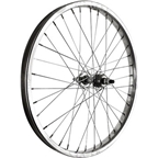 Sta Tru Rear Wheel~ 20 inch Silver Single Speed BMX Steel Rim with Solid Thread on