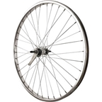 Sta Tru Rear Wheel 26 inch Silver Coaster Brake Steel Rim with Bolt-on Axle 36 Spokes