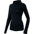 Pearl Izumi Women's Flash Hoody: Black/Shadow Gray