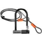 Kryptonite KryptoLok Series 2 Mini-7 U-Lock with 4' Flex Cable and Bracket: 3.25 x 7""