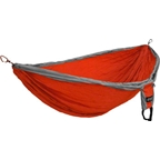 Eagles Nest Outfitters Double DeLuxe Hammock, Orange/Gray