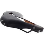 Selle Anatomica X Series Watershed Saddle: Black with Gunmetal Rivets
