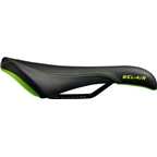SDG Allure Womens Saddle: Ti-Alloy Rails, Black with White Accents