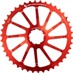 Wolf Tooth Components 42T GC cog for Shimano 11-36 10-speed Cassettes, Red