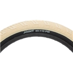 "Stolen Joint High Pressure Tire 20 x 2.3"" Tan Tread Black Sidewall Steel Bead 110 psi"