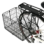 Axiom Rear Wire Folding Basket - Black