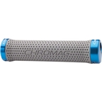 Chromag Basis Grips: Gray Grips Blue Clamps