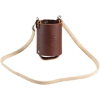Fyxation Leather Beer Holster with Strap Brown
