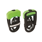 Hiplok DC Hardened Steel Shackle U-Lock With 1 meter Cable: 13mm Black and Neon