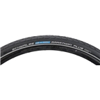 Schwalbe Marathon Plus Tire, 700 x 38 Wire Bead Black with Reflective Sidewall and SmartGuard Protection