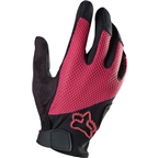 Fox Racing Women's Reflex Gel Full Finger Glove: Pink