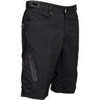 "Zoic 12"" Ether Cycling Short with Removable Chamois Liner: Black MD"