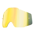 100% Replacement Anti-fog Lens, Mirror Gold