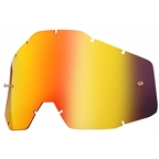 100% Replacement Anti-fog Dual Lens, Mirror Red - Vented