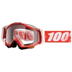 100% RaceCraft Goggle, Fire Red (clear)