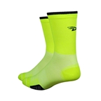 DeFeet Cyclismo Hi-Top Socks, Hi-Vis/Black