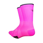 DeFeet Cyclismo Hi-top Socks, Hi-Vis Pink