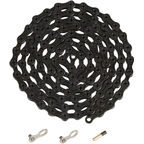 YBN Ti-Nitride Black 11-speed Chain, 116 Links, 5.5mm Wide with One Reusable QRS Master Link