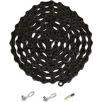 YBN Ti-Nitride Black 10-speed Chain, 116 Links, 5.9mm Wide with One Reusable QRS Master Link