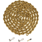 YBN Ti-Nitride Gold 10-speed Chain, 116 Links, 5.9mm Wide with One Reusable QRS Master Link