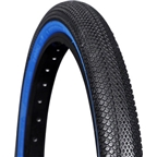 "Vee Tire Co. Speedster BMX Tire: 20 x 1-3/8"" Folding Bead Black Tread Blue Sidewall"