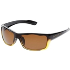 Native Wazee Sunglasses: Stout Fade/Iron with Brown Polarized Lens