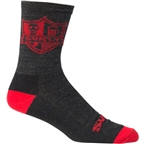 "Surly Coat of Arms 5"" Sock: Black/Red"
