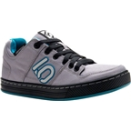 Five Ten Women's Freerider Canvas Flat Pedal Shoe: Gray/Teal
