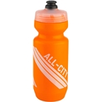 All-City Purist Water Bottle: 22oz, Orange with Clear cap and White graphics