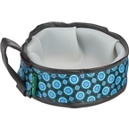 Cycle Dog Trail Buddy Pet Bowl: 22oz Blue Space Dots