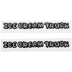 Surly Ice Cream Truck Model Only Decal Set Silver and Black