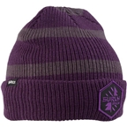 Surly Split Season Beanie: Purple/Black One Size