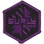 Surly Split Season Patch: Purple/Black 2 x 2.3""