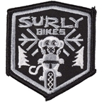 Surly Snow Monkey Patch: Black/Gray 2.4 x 2.7""