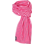 Surly Merino Wool Scarf: Red Stripe One Size