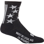 "Surly 1st Ave 5"" Wool Sock: Black"