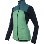 Pearl Izumi Women's Flash Insulator Jacket: Gumdrop Green/Deep Lake/Black