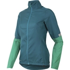 Pearl Izumi Women's Fly Jacket: Deep Lake/Gumdrop Green