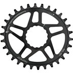 Wolf Tooth Components Direct Mount Drop-Stop Oval 32T Chainring: For Race Face CINCH Cranksets, Black